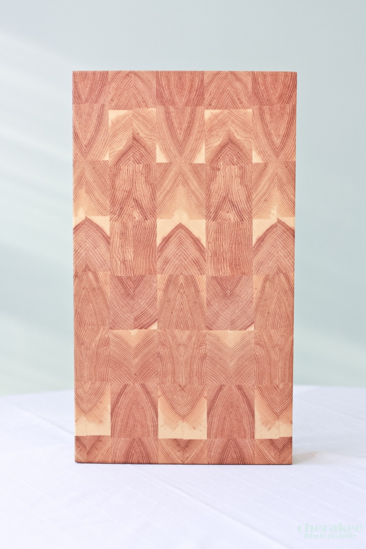 Do you see the cathedral windows on this board?  Cross cut, mirror image cutting board.  This sold very quickly, it is such a beautiful board...