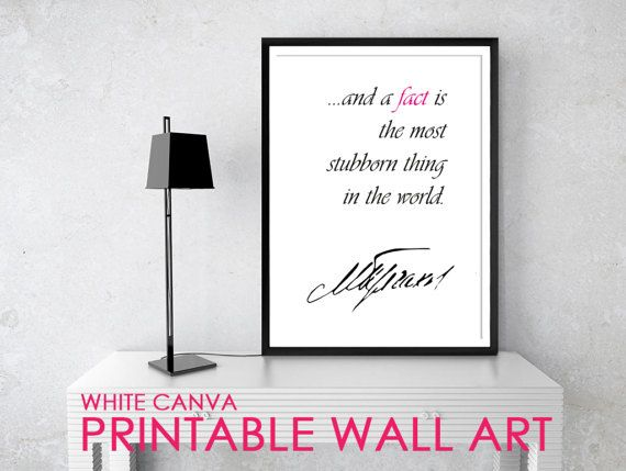 FACT2 Bulgakov Quote Posters Printable Quotes Home by WhiteCanva