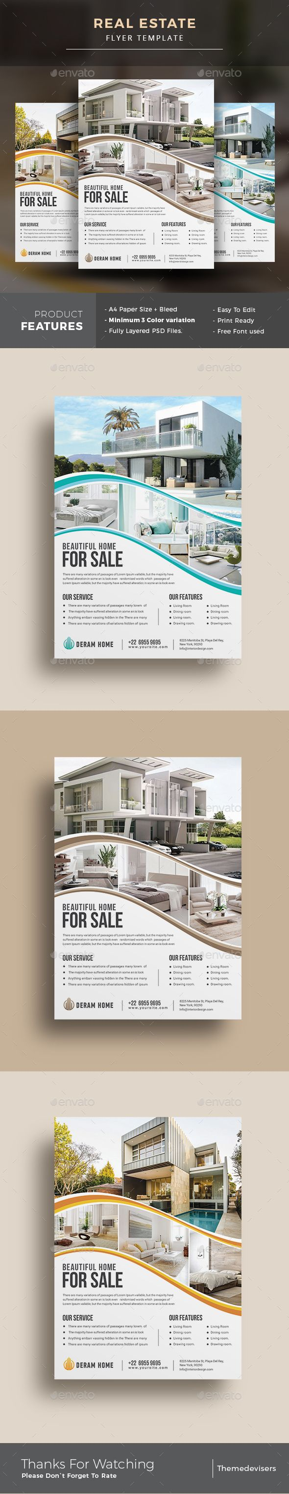 #Real #Estate #Flyer - Commerce Flyers Download here: https://graphicriver.net/item/real-estate-flyer/20180461?ref=alena994