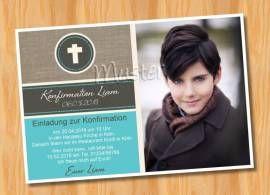 Ausgefallene Einladungskarten Konfirmation Kommunion 97 - Bild vergrößern