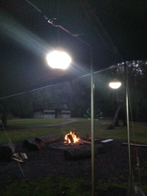 The #CampKingsCrew settle in as the rain starts again at #CrosslandsReserve #campground on our #GTFO #GetTheFamilyOutdoors #adventure #camping