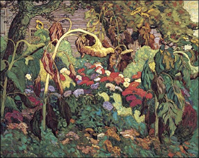 J.E.H. Macdonald - Group of Seven-Tangled garden