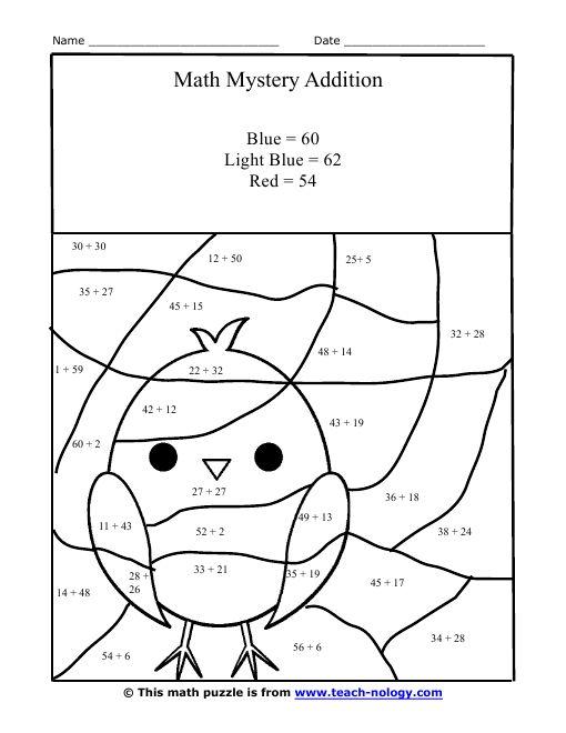 math worksheet : 30 best math worksheets images on pinterest  addition worksheets  : Addition Hidden Picture Worksheet