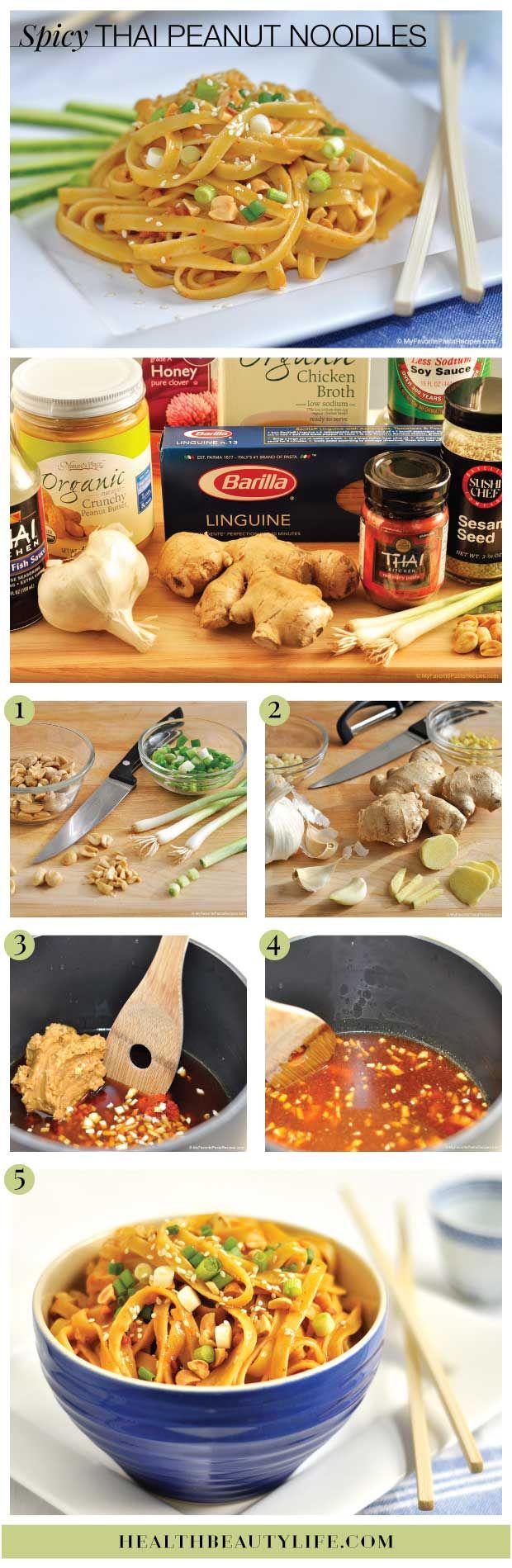 Oh yes: Spicy Thai Peanut Noodles #Recipe // Via Health Beauty Life