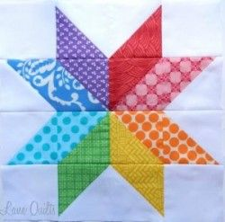 Quilt Block Patterns: Starflower Block