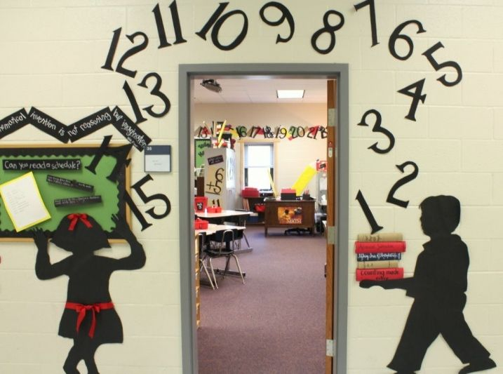 Math Classroom Door Decoration Ideas ~ Best school images on pinterest back to first