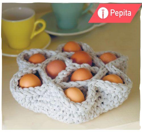 Корзинка для яиц: схема вязания крючком. Идеи к Пасхе