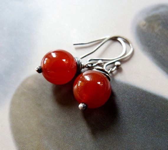 Orecchini in corniola argento gioielli naturali orecchini di Mirma