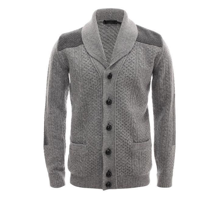 ALEXANDER MCQUEEN | Knitwear | Patched Aran Knit Cardigan