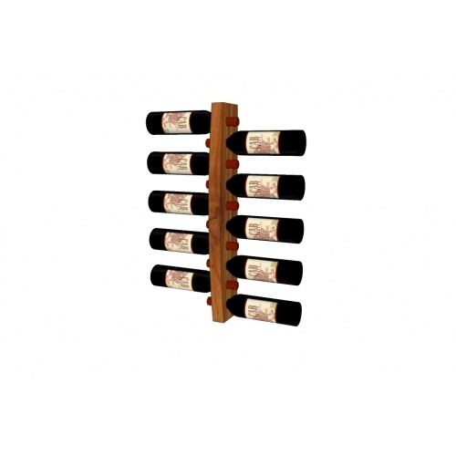 Wall mounted wine rack for 10 bottles  Made of solid dark walnut or cherry wood.   www.pinowood.ca