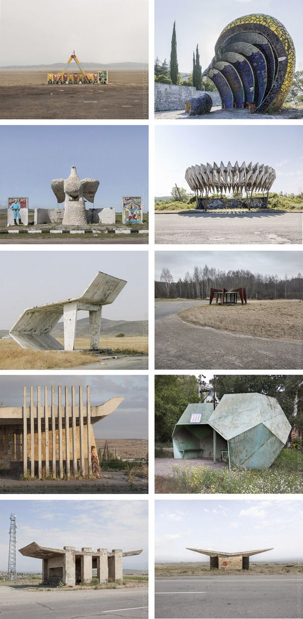 Cultural landscape: Soviet Bus Stops and wooden Orthodox churches