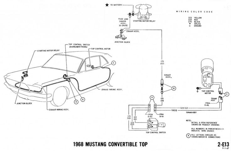 1968 Mustang Wiring Diagrams And Vacuum Schematics Average Joe Restoration 1968 Mustang Mustang Diagram