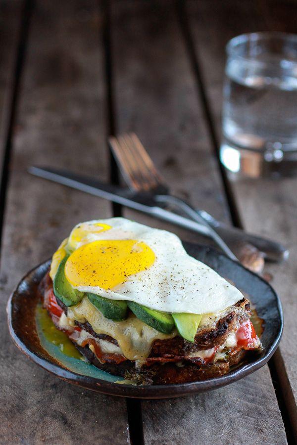 Crispy Kale BLT Croque Madame with Smoked Gouda + Avocado