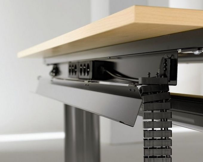 Under Desk Cable Management Design Electrical Outlets