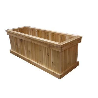 orosz outdoors 16 in x 36 in rectangular cedar planter box cg16 36 home depot canada