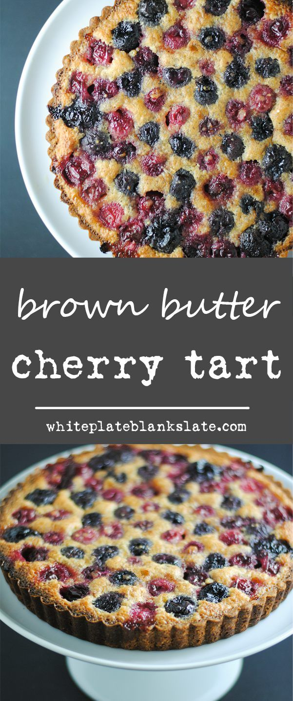Fresh cherries and brown butter are paired in a crunchy, buttery crust in this easy-to-make brown butter cherry tart.
