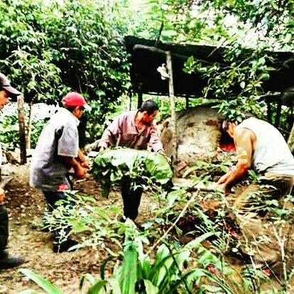 Preparando Zacahuil en Enrramaditas, San Luis Potosi