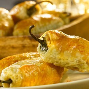 Puff Pastry Jalapeno Poppers.