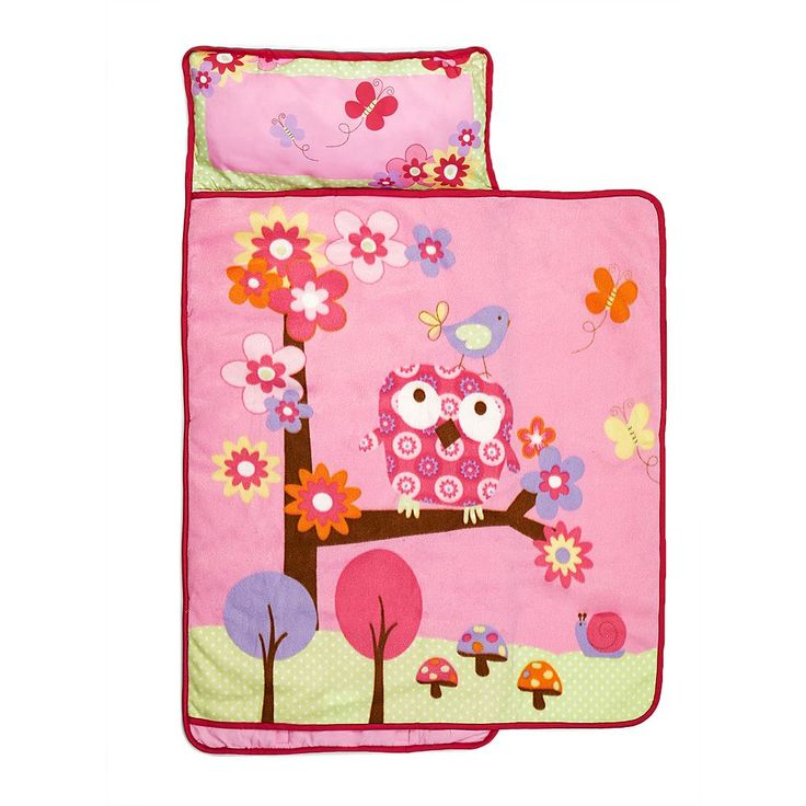 Baby Boom Woodland Friends Toddler Nap Mat, Pink