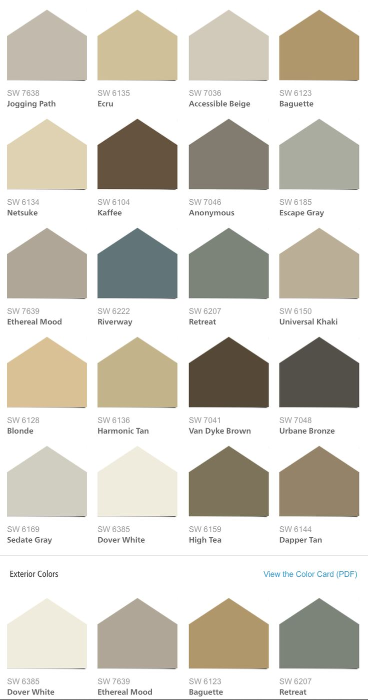 Sherwin williams hgtv home neutral nuance color palette for Color charts for painting walls