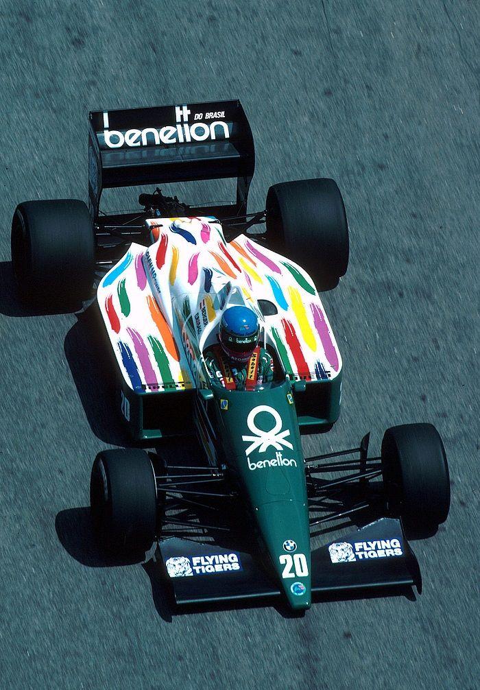 ——– 1986, Brasilien GP, Jacarepagua, Gerhard Berger, Benetton ———