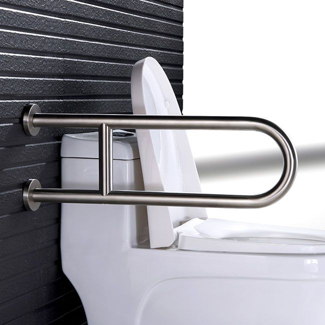 Handicap Toilet U Shape Grab Bar With Leg Support Hotel Collection Bathroom