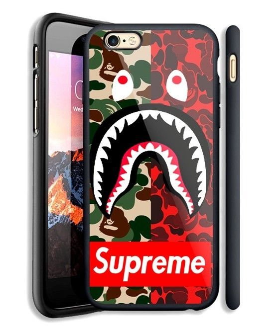 competitive price 1cba0 d67d2 Top Red Camo Supreme Bape Fit Hard Case For iPhone 6 6s Plus 7 8 ...
