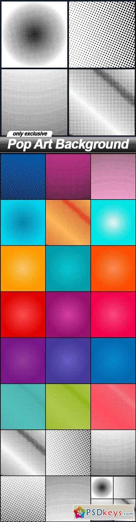 Pop Art Background - 24 EPS