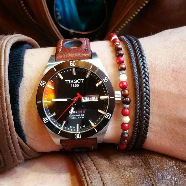 Tissot Prs516 correa Hirsch ____________________________ #tissot #tissotprs516 #reloj #watchporn #watchlover #watching #watchcollector #watchcommunity #watch #rayban #prs516 by javigarcia202