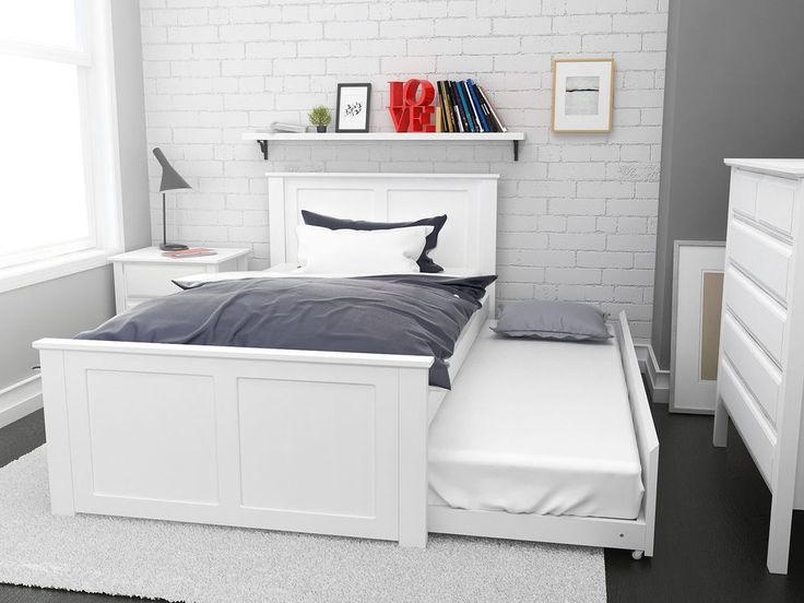 White king single trundle bed,modern hard wood timber children bedroom furniture