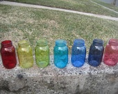 Colored Mason Jars!