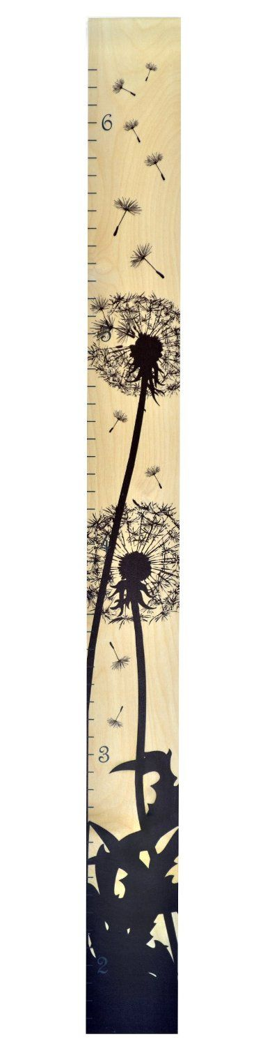 Amazon.com : Dandelion Ruler Growth Chart - Wall Hanging Wood Height Chart by Growth Chart Art : Baby