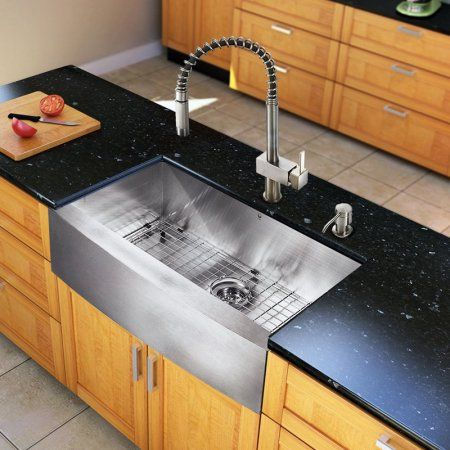 vigo all in one 33 inch farmhouse stainless steel kitchen sink and faucet set best 25  stainless steel kitchen sinks ideas on pinterest      rh   pinterest com