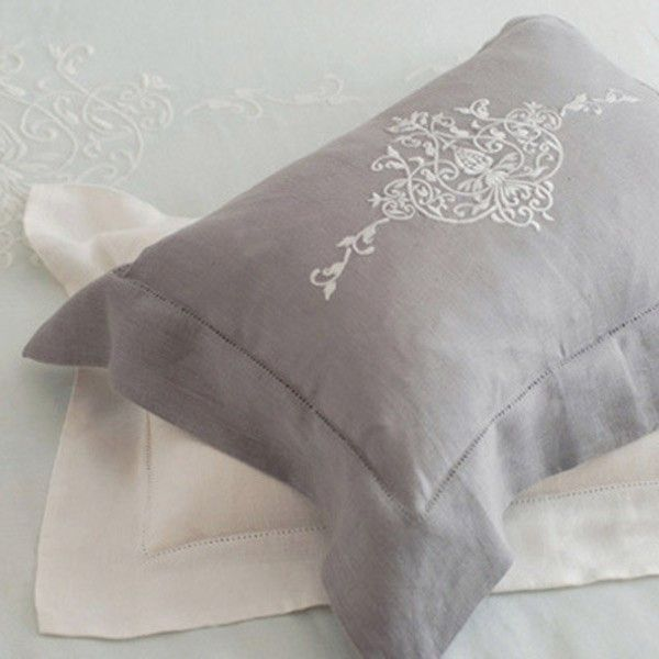 Pom Pom at Home Classica Embroidered Linen Pillow Sham - Final Sale