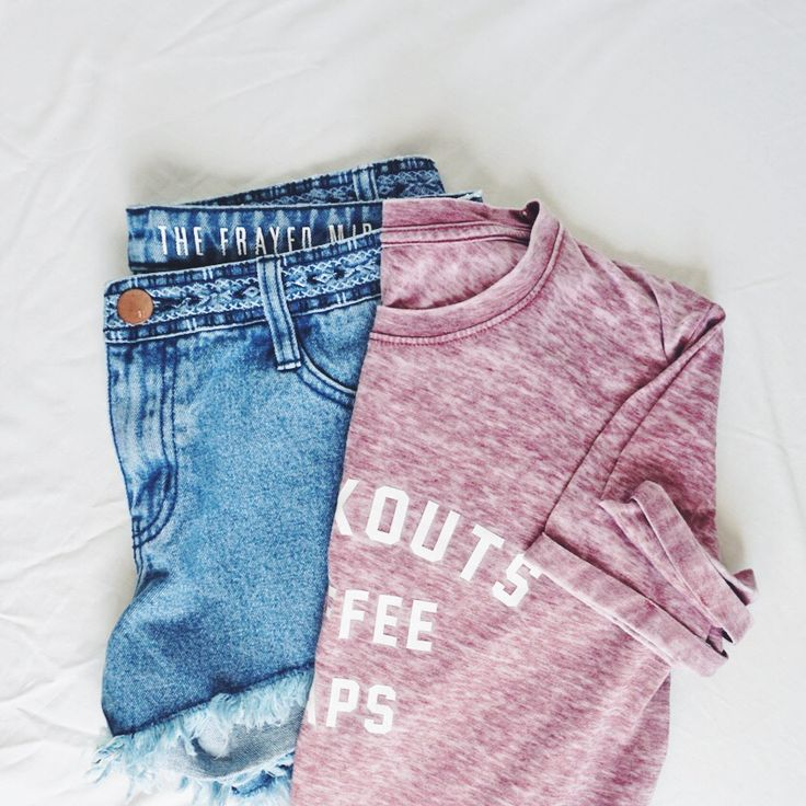 Denim cut off shorts paired with pink acid wash tee. flat lay.  || Cotton On || 2016 || Spring Fashion