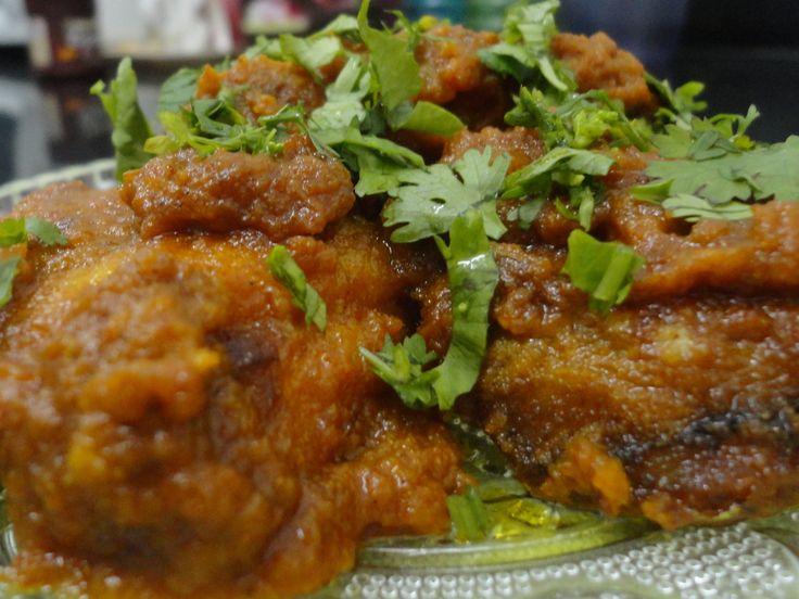 Masaledar Surmai (mackarel) by Mahua Dey.. mackarel made with indian spices.