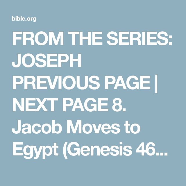 FROM THE SERIES: JOSEPH PREVIOUS PAGE | NEXT PAGE 8. Jacob Moves to Egypt (Genesis 46-47) Related Media Lesson PPT TITLE Main Point: We can trust God's promises. Key Verse: Lord and King, You are God! Your words can be trusted. You have promised many good things to me. - 2 Samuel 7:28 Props: Paper chain from last week; a coin; 5 apples Optional prop (for a large group of students): 70 star stickers - before class, put one sticker each on 70 randomly selected students. Background/R...