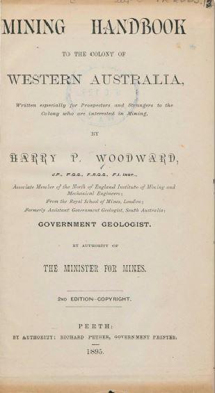 Mining handbook to the colony of Western Australia - 1895.