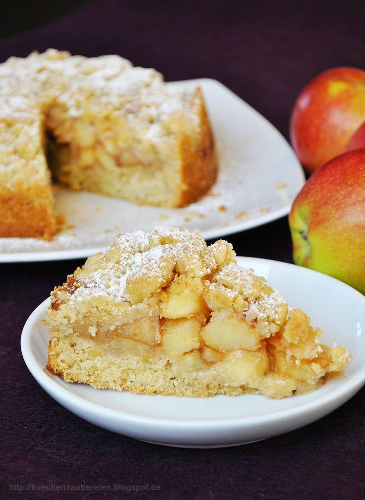 Apfel-Streuselkuchen (mit Rührteigboden)