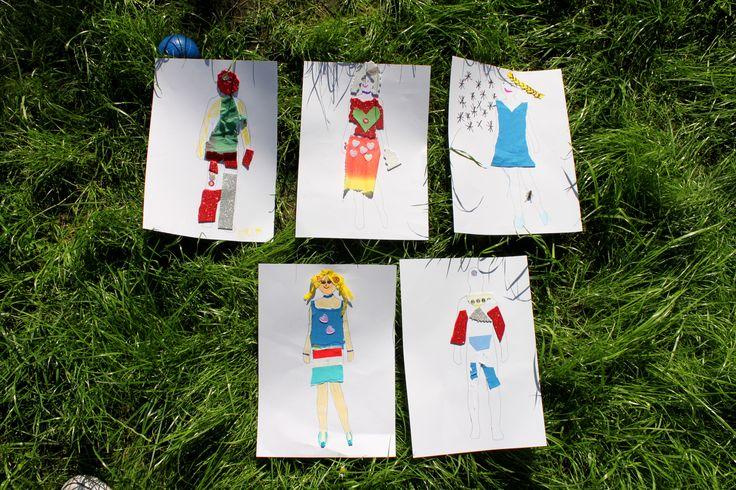 Nasze gotowe projekty na kolejny Paryski Tydzień Mody. Dzieciaki świetnie się bawią w czasie naszych wakacyjnych plastycznych spotkań z Francją i językiem francuskim.