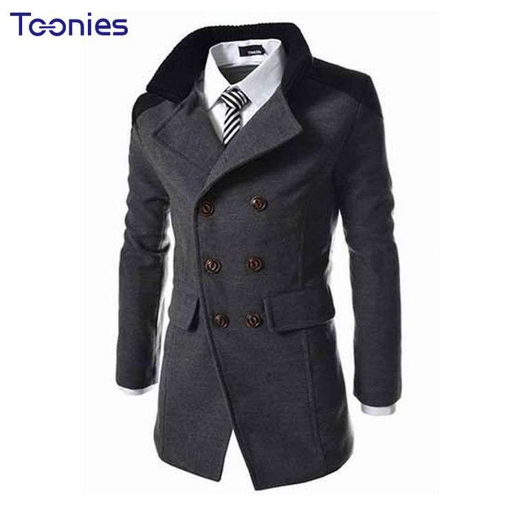 New Autumn Sobretudo Masculinos Preto Cool Mens Coats Overcoats Double Breasted Men Wool Coat Business Casual Trench Coat Men * AliExpress Affiliate's buyable pin. Click the VISIT button for detailed description on www.aliexpress.com #Menswoolblendcoats