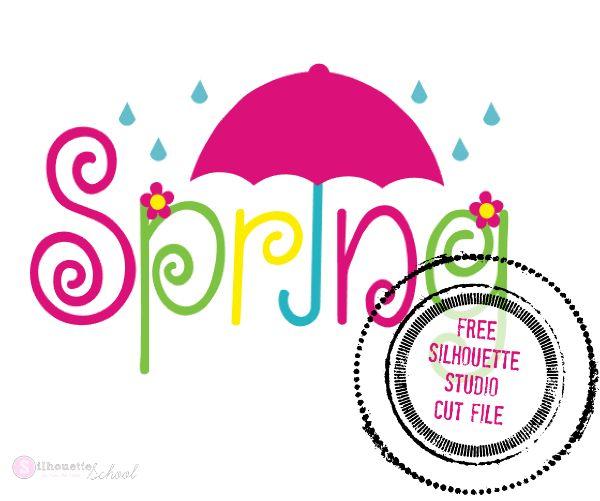 Free 'Spring' Silhouette Studio Design File