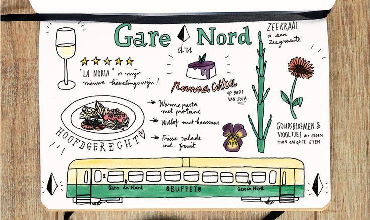 Eten in de wagon van gare du Nord is een culinaire totaalervaring voor iedereen.  #vegan #rotterdam