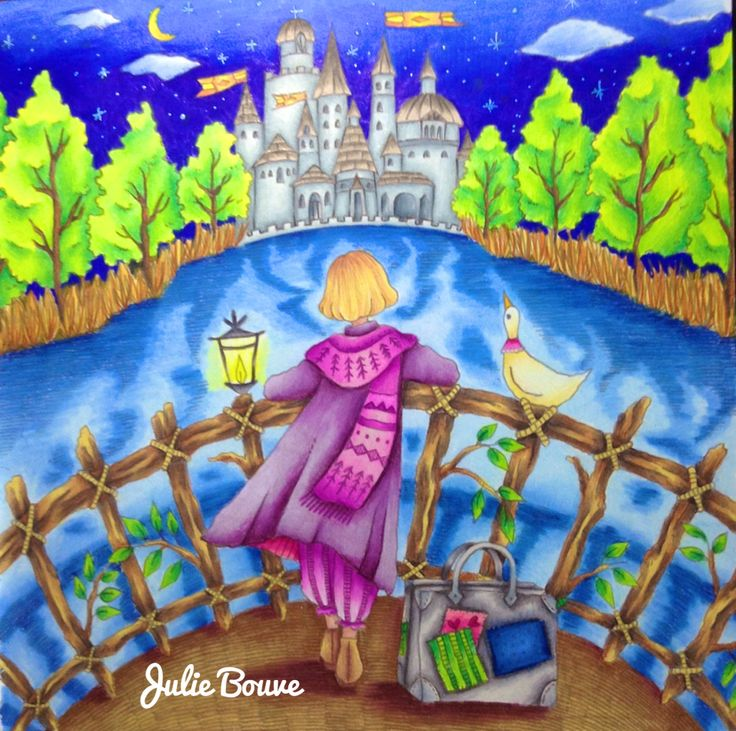 Julie Bouve With A Coloring Book Page From Romantic Country Fantasy By Eriy W Video