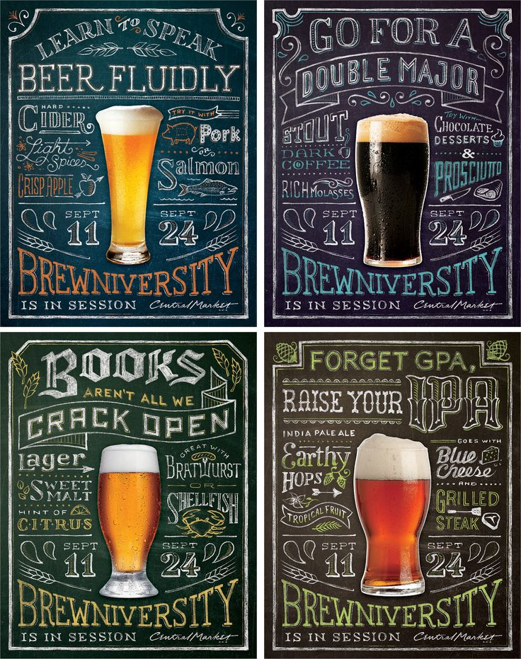 RBMM – Graphic Design Dallas, TX | Central Market Brewniversity  beer posters