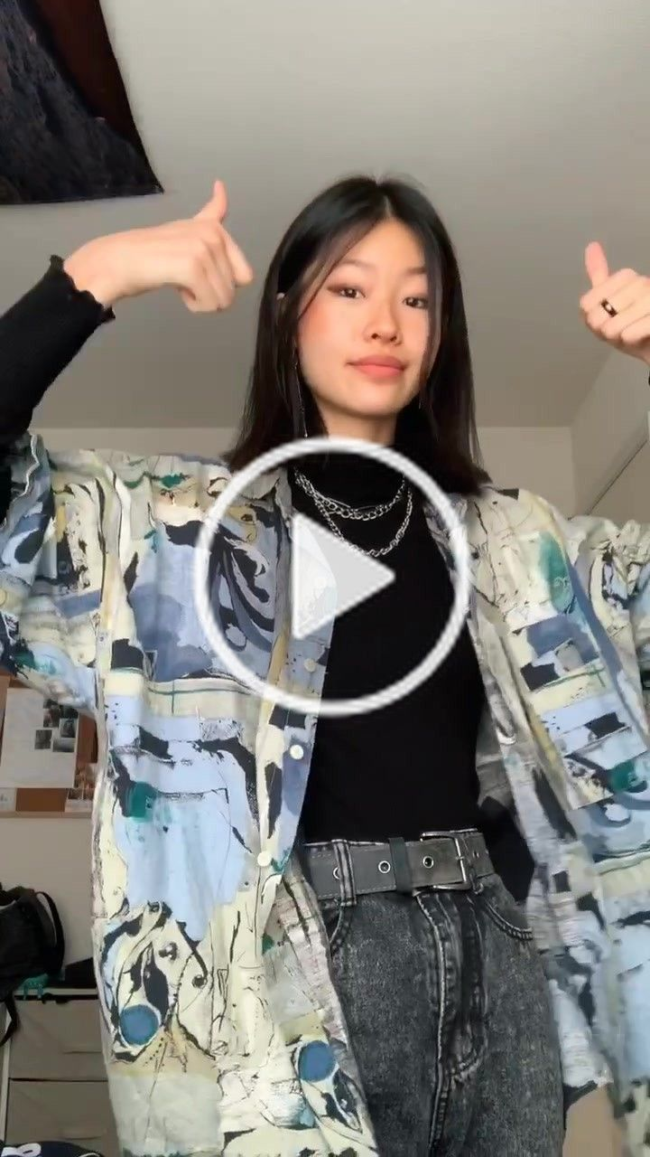 Tiffany Itstiffyg On Tiktok 4 Simple Ways To Style An Oversized Button Down Shirt Styleti Vibe Clothes Hijabi Outfits Casual Oversized Button Down Shirt