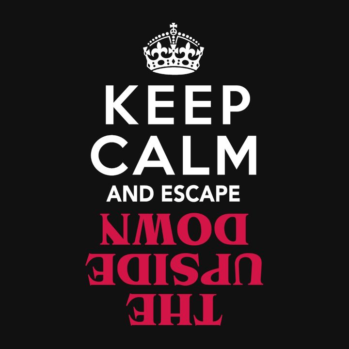 """""""Keep Calm and Escape the Upside Down"""" Stranger Things Shirt   This popular Shirt and piece of Sci-Fi Clothing is a great """"Keep Calm Quote"""" geek t-shirt for fans of the Stephen King and 80s inspired Netflix TV show series."""