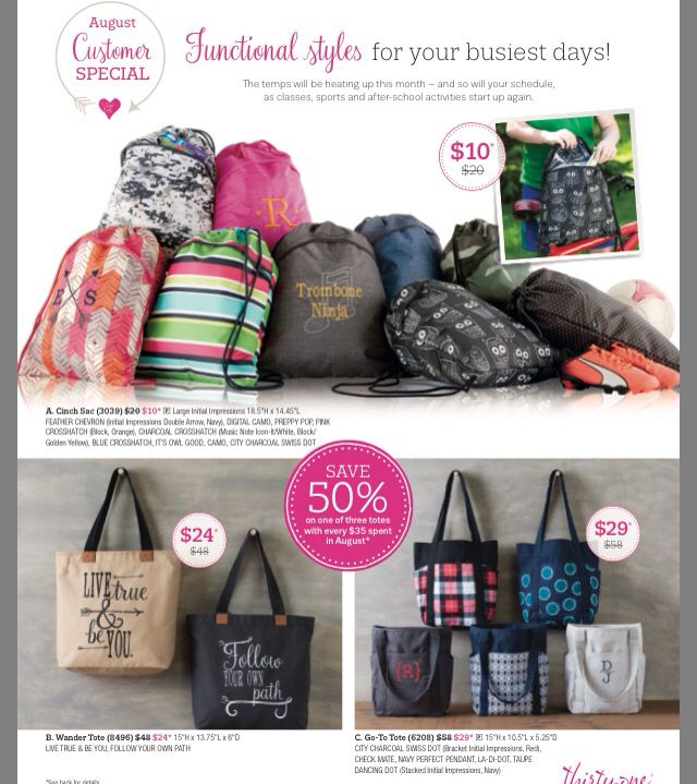 Thirty one August 2016 specials