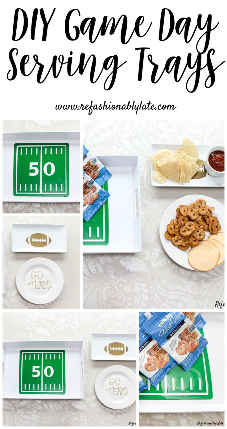DIY Serving Trays for the Big Game - www.refashionably...