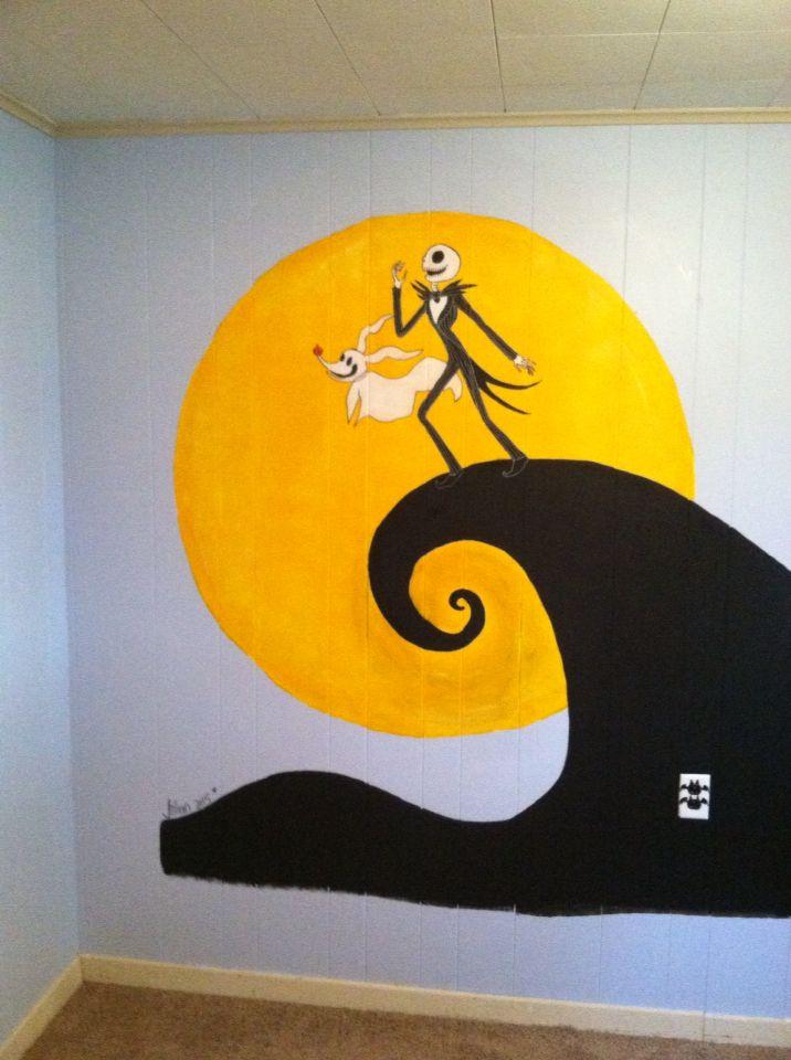 Nightmare Before Christmas Mural For My Friendu0027s Nursery. Jillian Holmberg Part 93